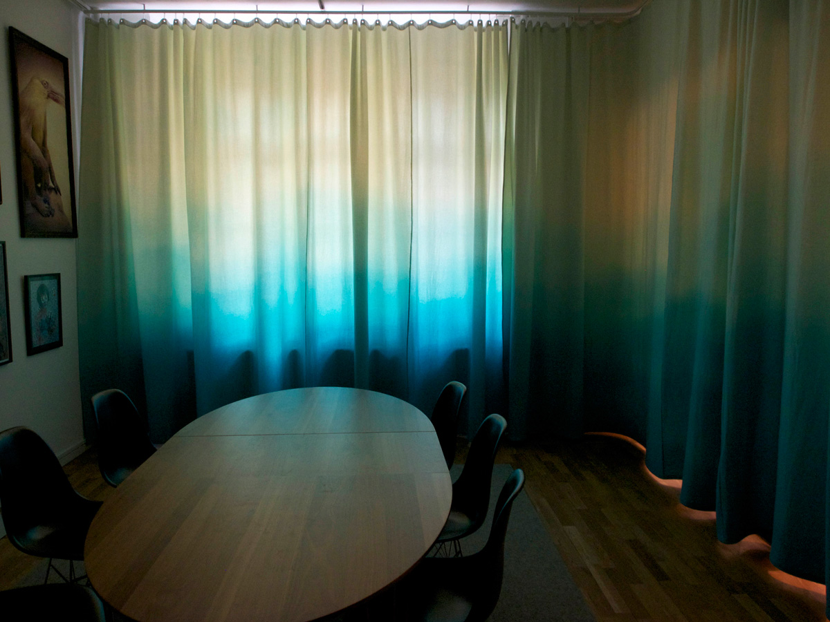 Curtain for Triwa meeting room